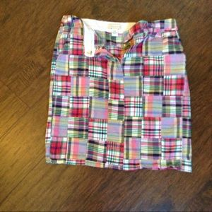 Plaid patch skirt